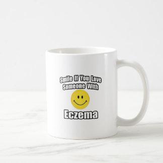 Smile If You Love Someone With Eczema Coffee Mug