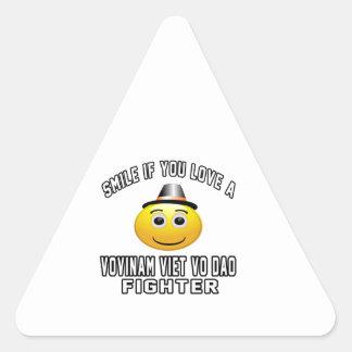Smile if you love VOVINAM VIET VO DAO Fighter Triangle Stickers