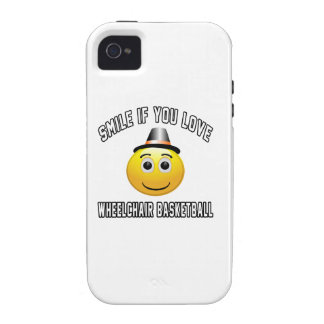 Smile if you love Wheelchair Basketball. iPhone 4/4S Cover