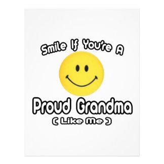 Smile If You re a Proud Grandma Like Me Custom Flyer