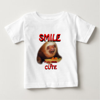 smile if you think i'm cute. baby T-Shirt