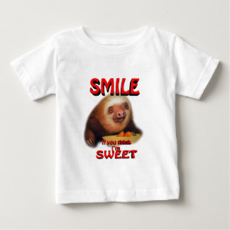 smile if you think i'm sweet baby T-Shirt
