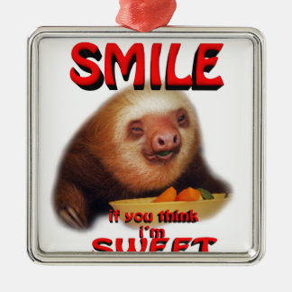 smile if you think i'm sweet christmas ornament