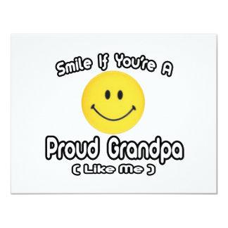 Smile If You're a Proud Grandpa (Like Me) Custom Invitation