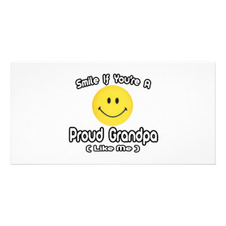 Smile If You're a Proud Grandpa (Like Me) Photo Card Template