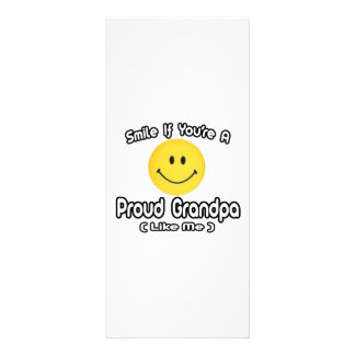 Smile If You're a Proud Grandpa (Like Me) Personalized Rack Card