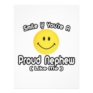 Smile If You're a Proud Nephew (Like Me) 21.5 Cm X 28 Cm Flyer