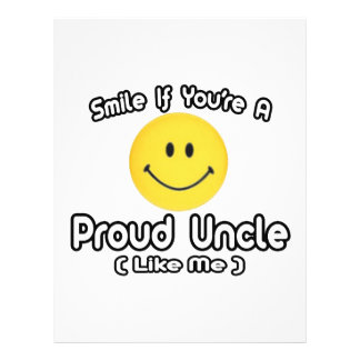 Smile If You're a Proud Uncle (Like Me) 21.5 Cm X 28 Cm Flyer