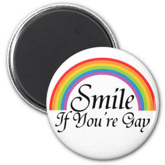 Smile if you're gay 6 cm round magnet
