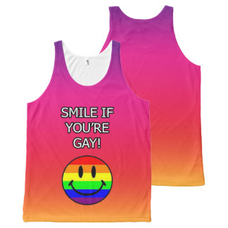Smile if you're gay pink All-Over print tank top