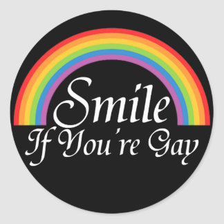 Smile if you're gay stickers