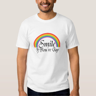 Smile if youre gay t-shirts