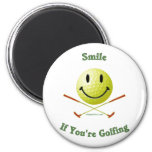 Smile If You're Golfing 6 Cm Round Magnet