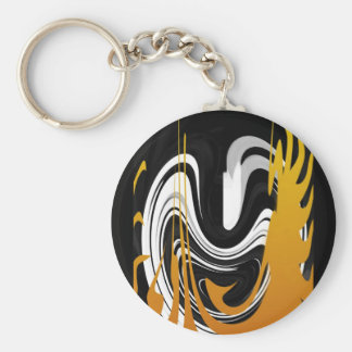 Smile in the Dancing Flame Basic Round Button Key Ring