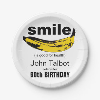 Smile is good 60th Birthday Party Paper Plate