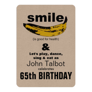 Smile is good for Health 65th Birthday Invitation