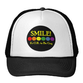 Smile It s O K to be Gay Trucker Hat