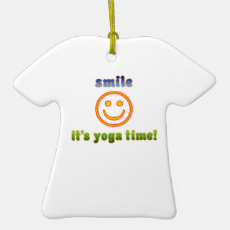 Smile It s Yoga Time Health Fitness New Age Christmas Tree Ornaments