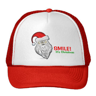 Smile It's Christmas Santa Claus Hat