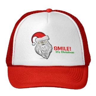Smile It's Christmas Santa Claus Hat