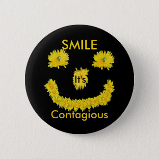 Smile it's Contagious Dandelion 6 Cm Round Badge