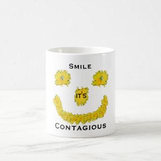 Smile it's Contagious Dandelion Coffee Mug