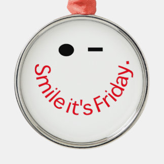 Smile It's Friday Christmas Ornament