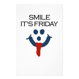Smile It's Friday Stationery Paper