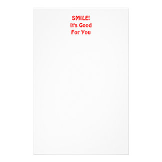 SMILE! It's Good For You. Red. Stationery Design