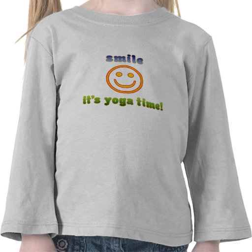 Smile It's Yoga Time! Health Fitness New Age Shirt