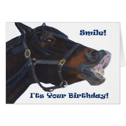 Horse birthday cards invitations zazzle smile its your birthday horse card bookmarktalkfo Images