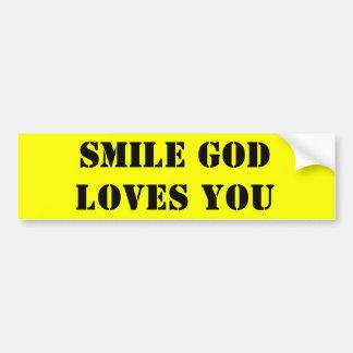 SMILE JESUS LOVES YOU BUMPER STICKER