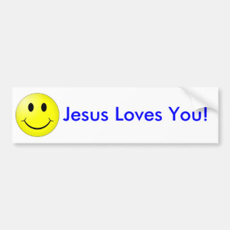 Smile Jesus Loves You Bumper Sticker