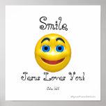 Smile Jesus Loves You Smiley Poster