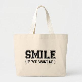 Smile Jumbo Tote Bag