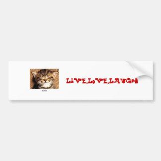smile kitty, Live,Love,Laugh Bumper Stickers