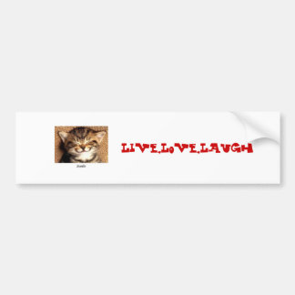 smile kitty Live Love Laugh Bumper Stickers