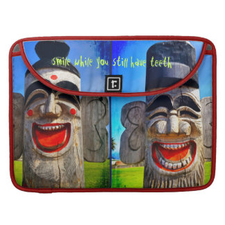 Smile laughing character photo Macbook Pro sleeve