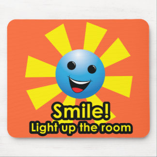Smile! Light up the room Mouse Mat