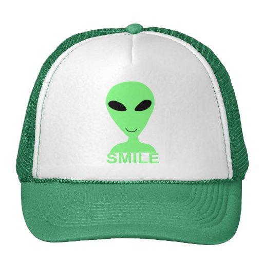 Smile! Little Green Men Trucker Hat Cap