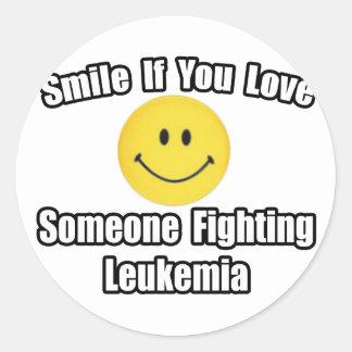 Smile Love Someone Fighting Leukemia Stickers