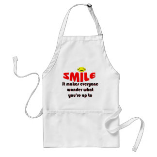 Smile - Make people wonder what your up to Adult Apron