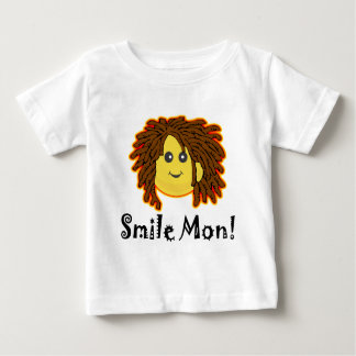 Smile Mon! Rasta Smiley Face Baby T-Shirt