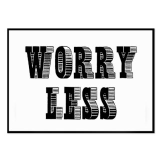 SMILE MORE - WORRY LESS DIPTYCH MOTIVATION QUOTE W PACK OF CHUBBY BUSINESS CARDS