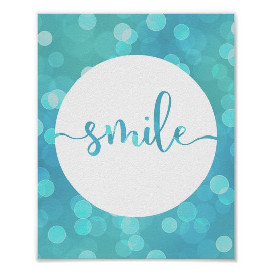 Smile! Motivational Quote Wall Art