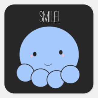 Smile! Octopus Square Sticker