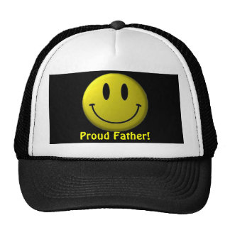 Smile On Proud Father Trucker Hats