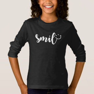 Smile Panda Girls' Basic Long Sleeve T-Shirt