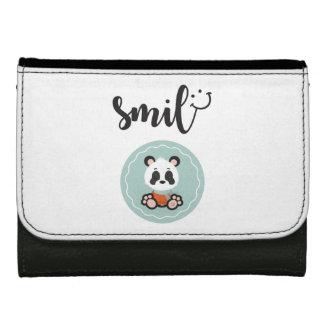 Smile Panda Leather Wallet