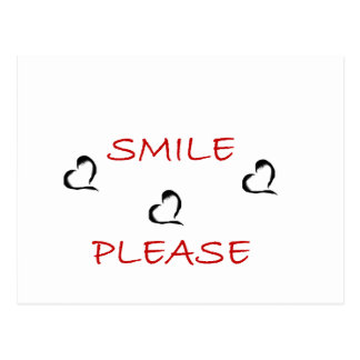 smile please postcard